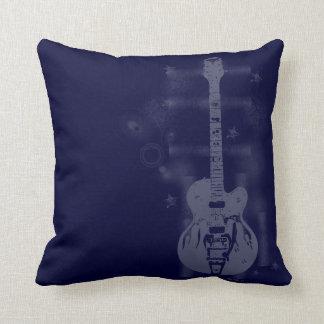 Het Grafische Blauwe Kussen van de gitaar