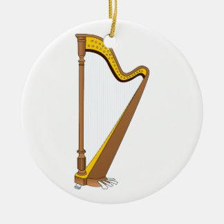 Het Grafische Ontwerp van de Harp van het Pedaal Rond Keramisch Ornament
