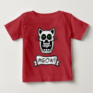 Het Grafische Ontwerp van de schedel van de kat Baby T Shirts