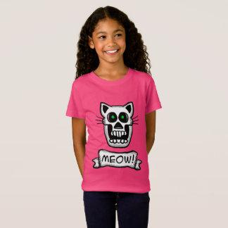 Het Grafische Ontwerp van de schedel van de kat T Shirt