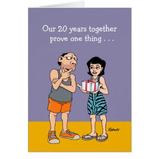 Het grappige 20ste Jubileum van het Huwelijk Briefkaarten 0