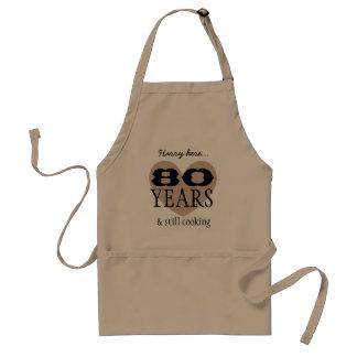 Het grappige 80ste Verjaardag en nog Koken V03Z Standaard Schort