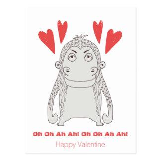 Het grappige Aap en Briefkaart van Valentijn van