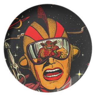 Het Grappige Art. van de Astronaut van het Sci Fi Melamine+bord