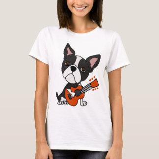 Het grappige Art. van de Gitaar van de Hond van T Shirt