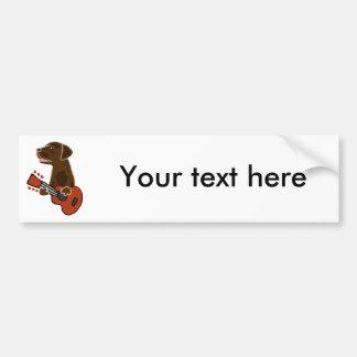 Het grappige Art. van de Gitaar van de Labrador Bumpersticker