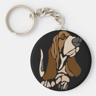Het grappige Art. van de Hond van Basset Hound Sleutelhanger