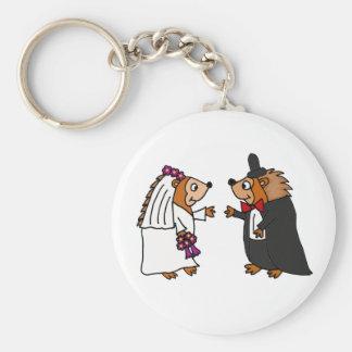 Het grappige Art. van het Huwelijk van de Egel van Sleutel Hangers