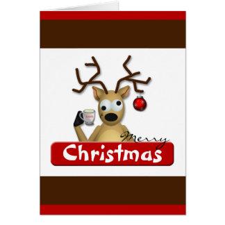 Het grappige Benevelde Wenskaart van Kerstmis van