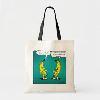 Het grappige Boze Canvas tas van Bananen