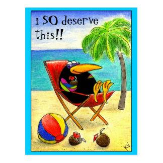 Het grappige briefkaart van de Vakantie van het