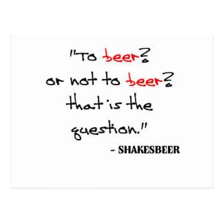 Het grappige Citaat van het Bier Briefkaart