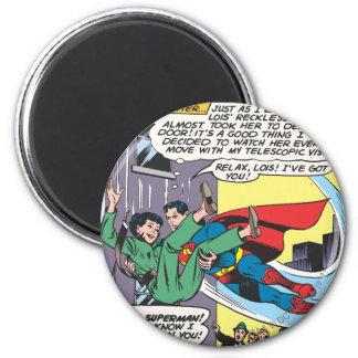 Het Grappige Comité van de superman - Lois een lat Ronde Magneet 5,7 Cm