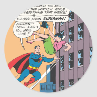 Het Grappige Comité van de superman - Ronde Sticker