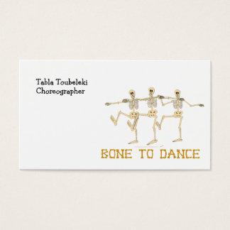 Het grappige Dansende Been van Skeletten om te Visitekaartjes