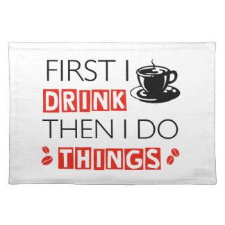 Het grappige design van de Koffie Placemat