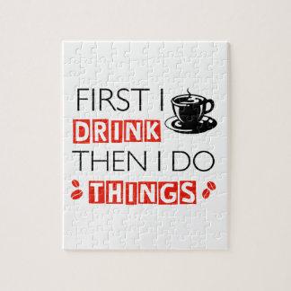 Het grappige design van de Koffie Puzzel