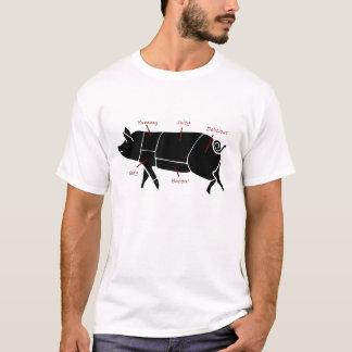 Het grappige Diagram van de Grafiek van de Slager T Shirt