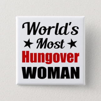 Het Grappige Drink van de Vrouw Hungover van de Vierkante Button 5,1 Cm