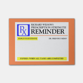 Het grappige Etiket van het Voorschrift Post-it® Notes