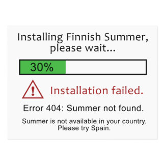 Het grappige Finse briefkaart van de Zomer