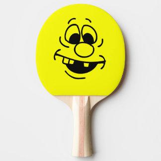 Het grappige Gele Gezicht Smiley van de Tafeltennis Bat