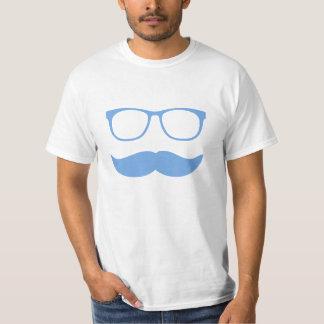 Het Grappige Gezicht van de snor met Glazen T Shirt