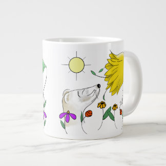 Het grappige Gezicht van het Fret Grote Koffiekop