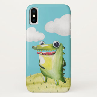 Het grappige Glimlachen Gator iPhone X Hoesje