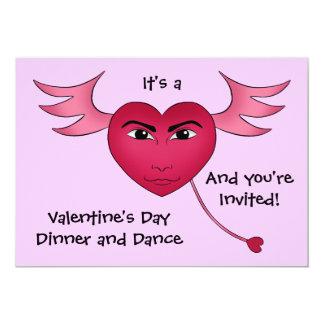 Het grappige hart van de Valentijnsdag met 12,7x17,8 Uitnodiging Kaart