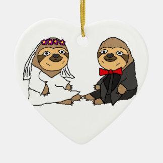 Het grappige Huwelijk van de Bruid en van de Keramisch Hart Ornament