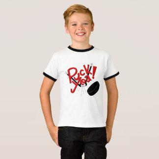 Het grappige Kinder Overhemd van het Hockey T Shirt