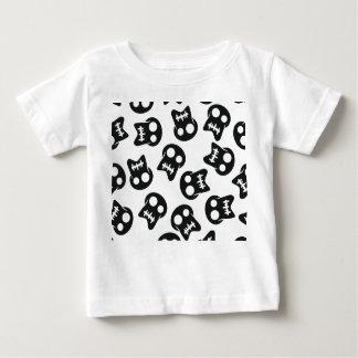 Het grappige kleurrijke patroon van de Schedel Baby T Shirts