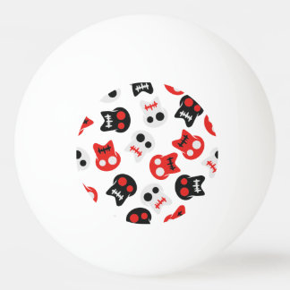 Het grappige kleurrijke patroon van de Schedel Pingpongbal