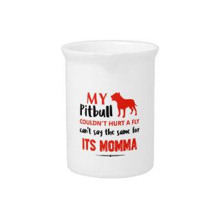 Het grappige kuil-Stier design van de Mama Drank Pitcher