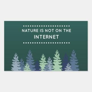 Het grappige Natuur en Citaat van Internet Rechthoekige Sticker