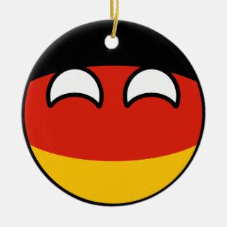 Het grappige Neigen Geeky Duitsland Countryball Rond Keramisch Ornament
