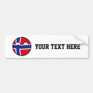 Het grappige Neigen Geeky Noorwegen Countryball Bumpersticker