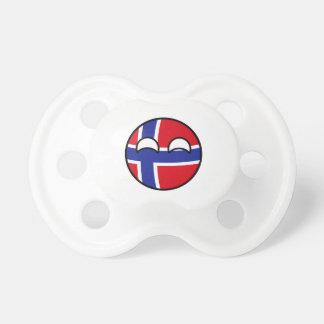 Het grappige Neigen Geeky Noorwegen Countryball Fopspeentjes
