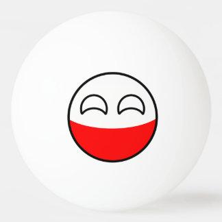 Het grappige Neigen Geeky Polen Countryball Pingpongbal