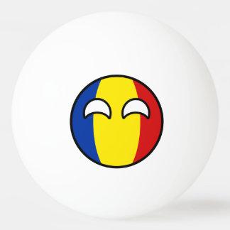 Het grappige Neigen Geeky Roemenië Countryball Pingpongbal