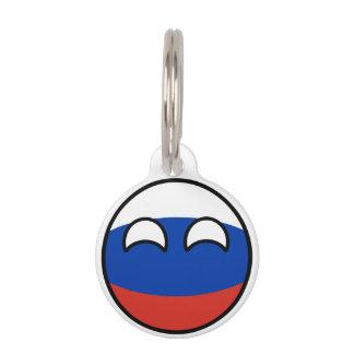 Het grappige Neigen Geeky Rusland Countryball Huisdierpenning