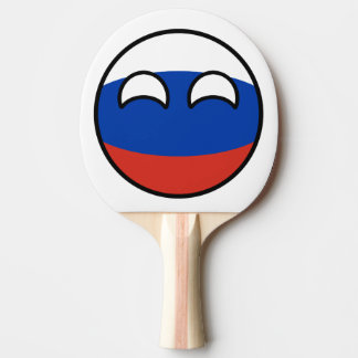 Het grappige Neigen Geeky Rusland Countryball Tafeltennis Bat