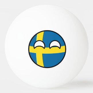Het grappige Neigen Geeky Zweden Countryball Pingpongbal