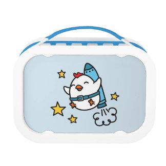 Het grappige Ontwerp van de Kip Jetpack Lunchbox