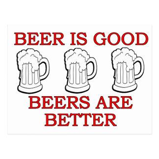 Het grappige Ontwerp van het Bier Briefkaart