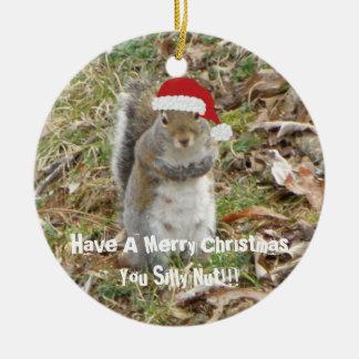 Het grappige Ornament van de Eekhoorn van Kerstmis