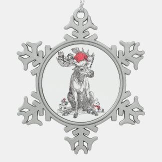 Het grappige Ornament van de Sneeuwvlok van