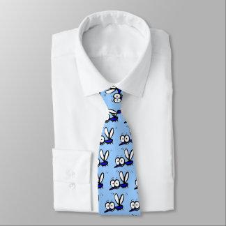 het grappige patroon van cartoonmuggen persoonlijke stropdassen