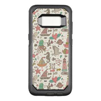 Het grappige Patroon van de Zomer met Schepen OtterBox Commuter Samsung Galaxy S8 Hoesje